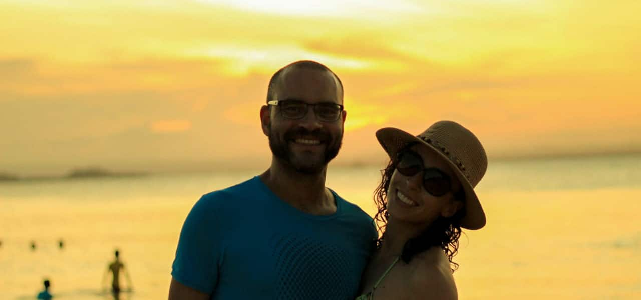 Marau - por do sol na Ponta do muta