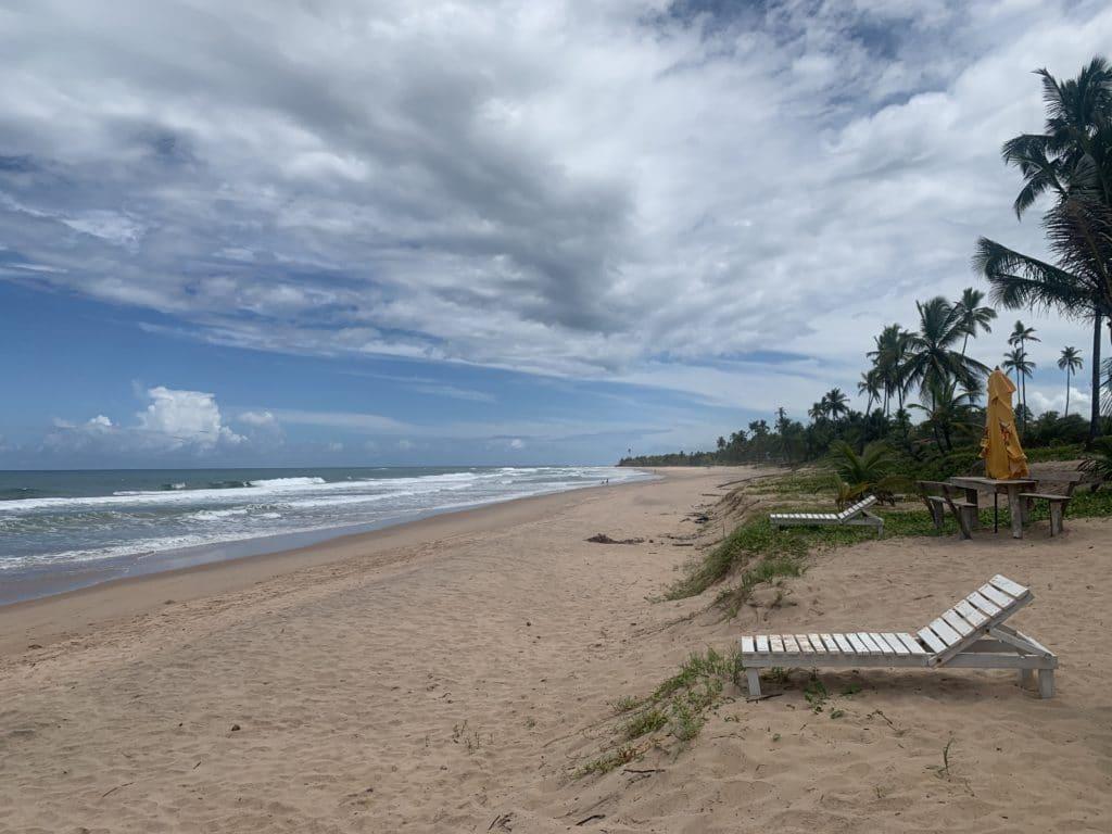 Praia do Cassange na peninsula de marau, em Barra Grande