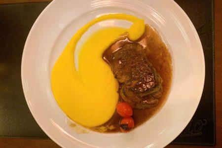 medaglione al roti no restaurante Elio Cucina Speciale em Campos do Jordão