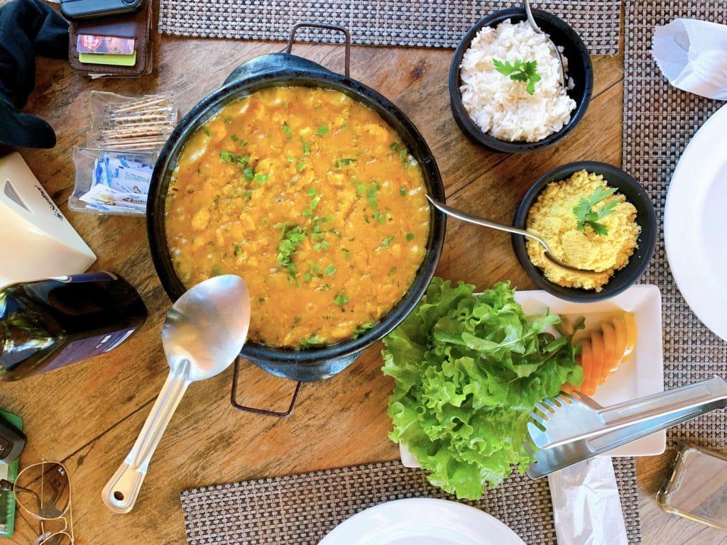 Moqueca com Camarão no Restaurante Terra Boa - Itacaré
