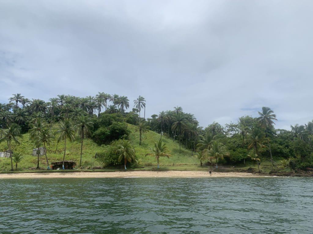 Ponta da Ilha grande, na Baía de Camumu