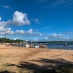 Praia da Coroa (centro) -  não propícia para banho