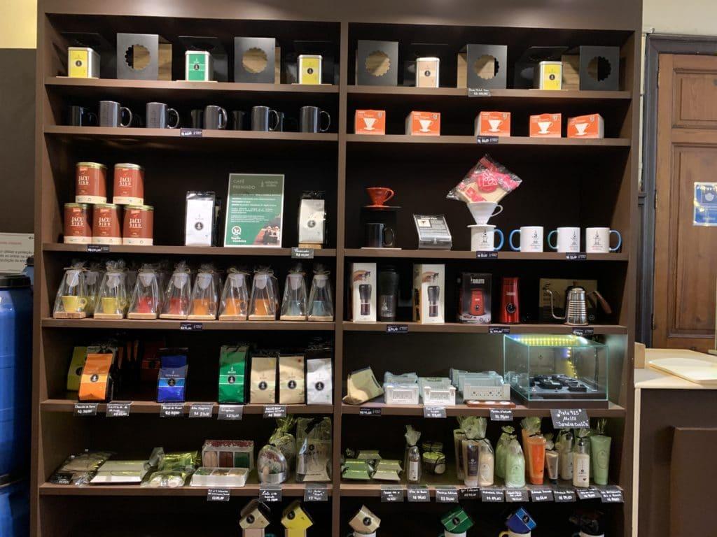 produtos cafeteria museu do cafe em santos