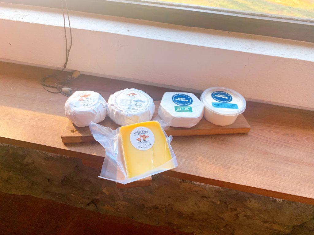 Tipos de queijo produzidos na queijaria