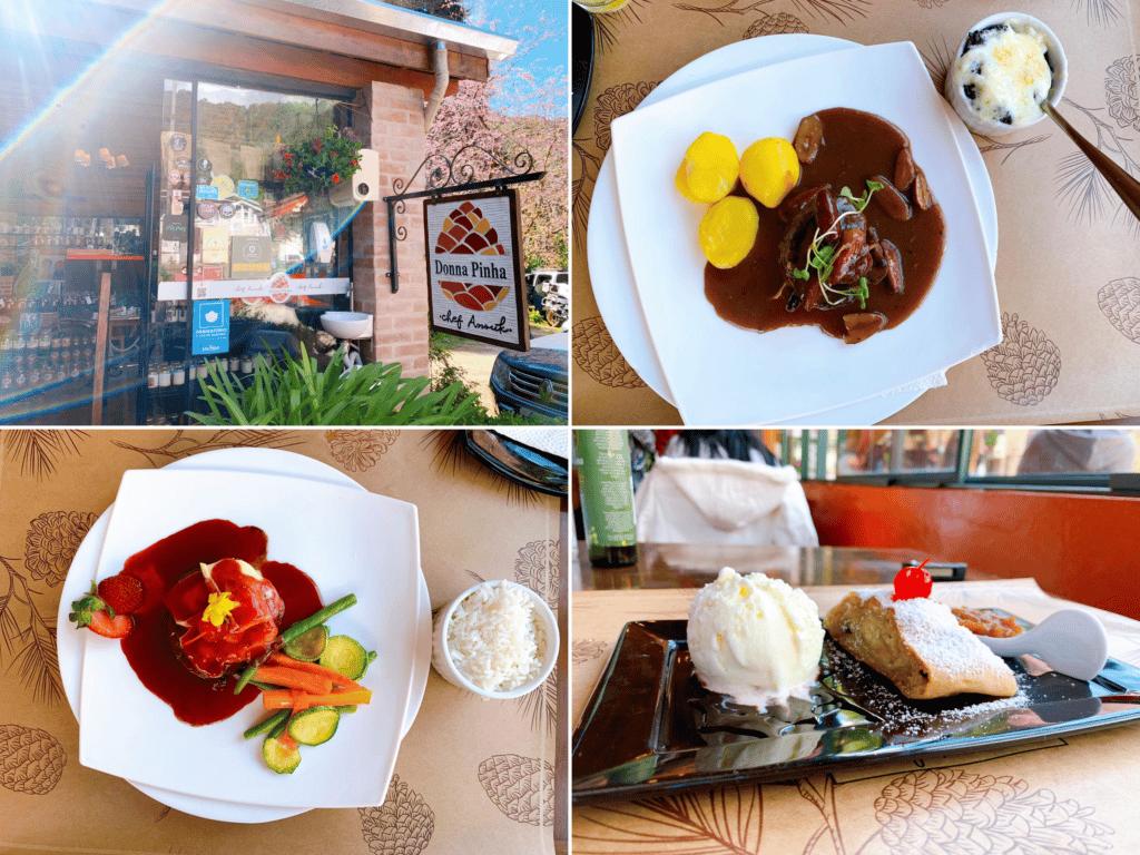 Restaurante Donna Pinha sendo o primeiro restaurante de indicação de onde comer Santo Antônio do pinhal