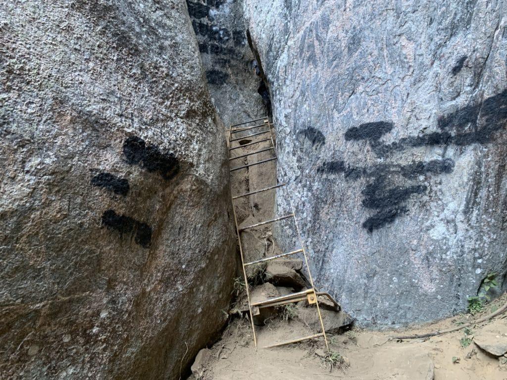 Escada para a trilha  da Ana Chata