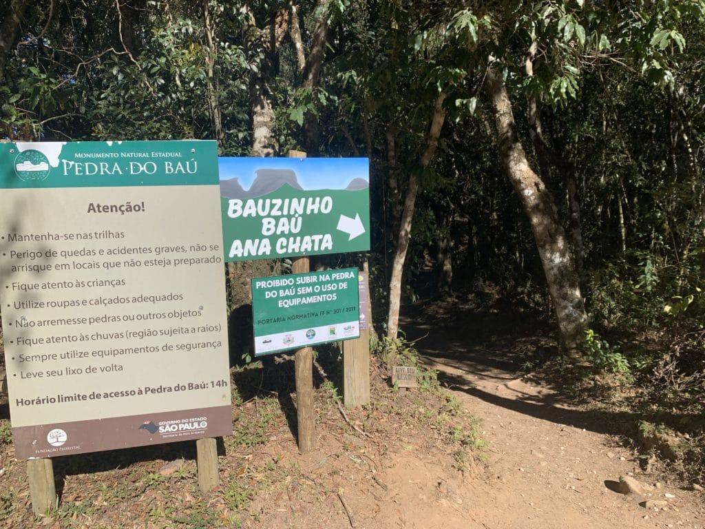 Sinalização da Trilha em São Bento do Sapucaí