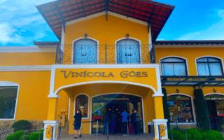 Fachada da Vinícola Góes, em São Roque