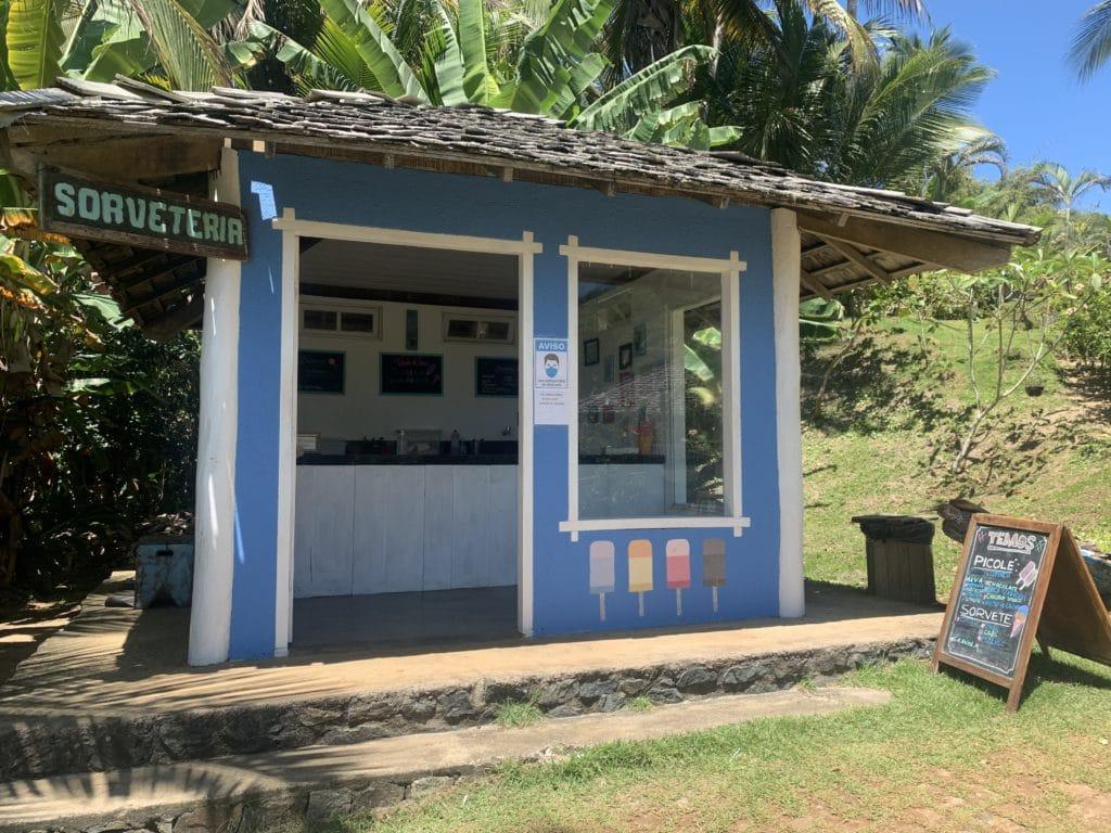 Sorveteria na Praia de Itacarezinho - Itacaré
