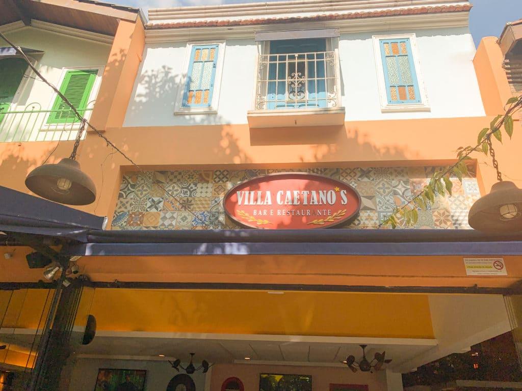 Villa Caetano's bar