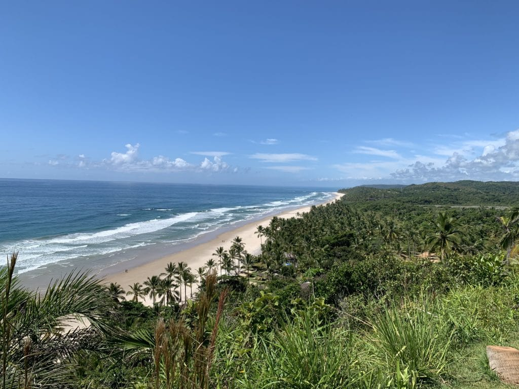 Vista do Mirante chegando na Praia de Itacarezinho - Itacaré